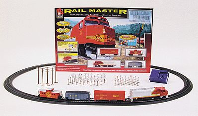 Rail Master Train Set -- Santa Fe - HO-Scale