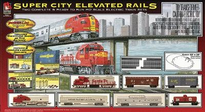 Super City Elevated Rails Train Set - HO-Scale