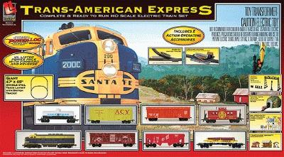 Trans America Express Train Set -- Santa Fe - HO-Scale